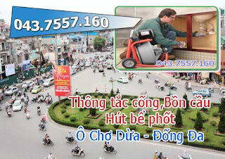 Thông tắc cống tại ô chợ dừa,thông bồn cầu,chậu rửa,toilet,thoát sàn,hút bể phốt 0977.935.825