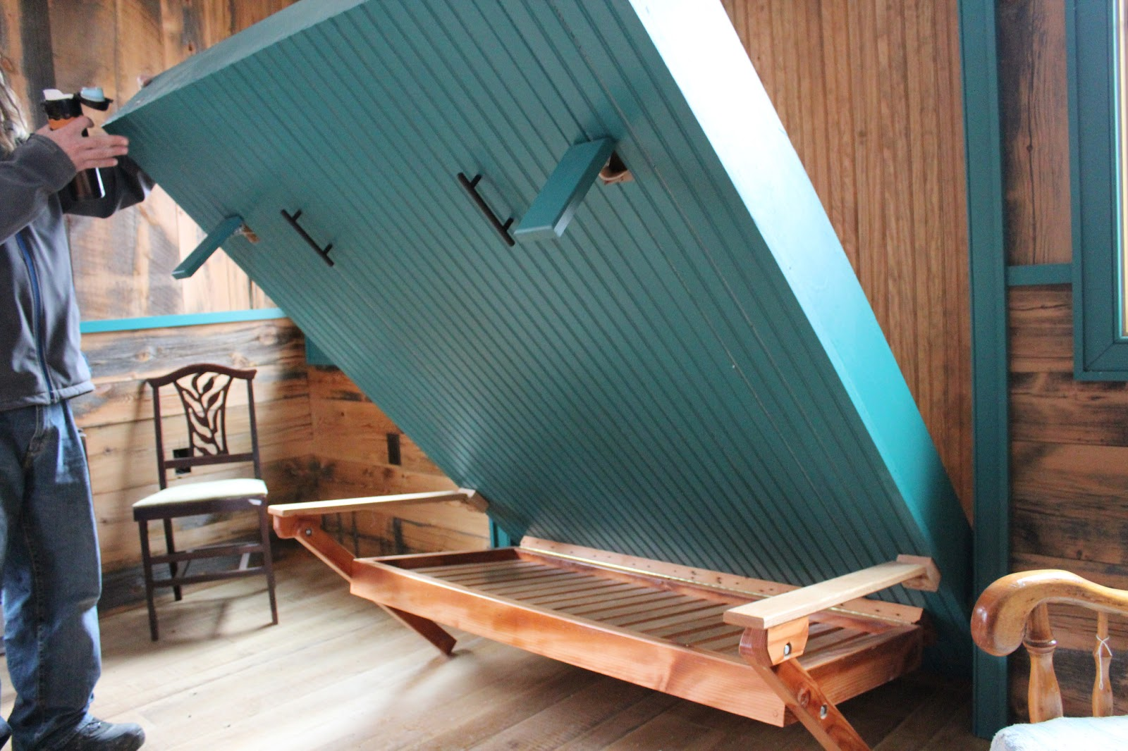 Pdf Porch Swing Bed Diy Plans Free Relaxshacks.com: Awesome Homemade Murphy Bed (at Blue Moon ...