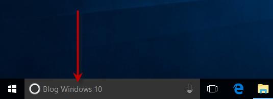 Thay đổi nhanh dòng chữ Ask me anything trong hộp tìm kiếm Cortana