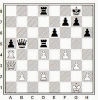 Partida de ajedrez Korchnoi-Karpov, 1981, posición después de 35. Td2