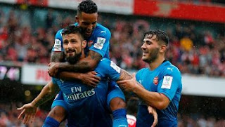 Video Gol Arsenal vs Benfica 5-2 Emirates Cup 2017