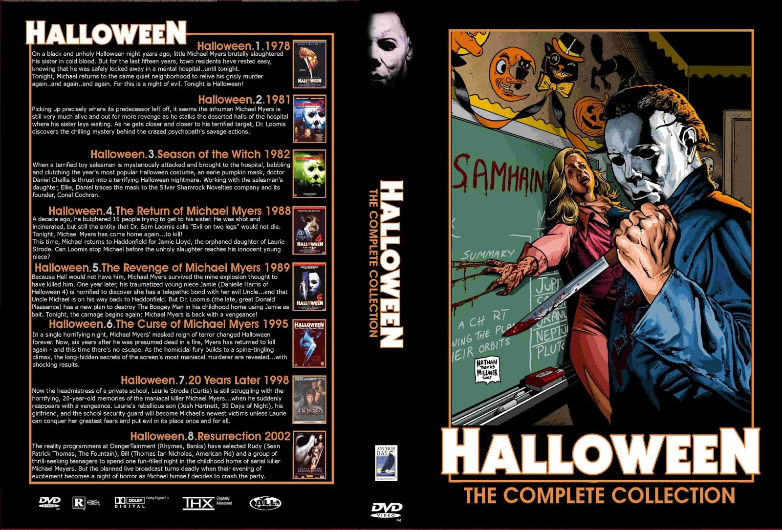 Halloween Dvd Box Set.Halloween Dvd Cover Zozogame Co