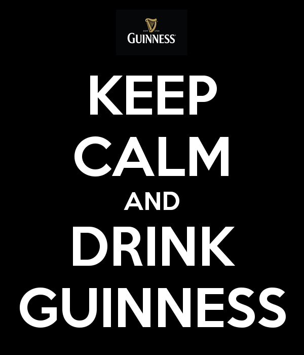 Funny keep calm and drink Guinness joke picture