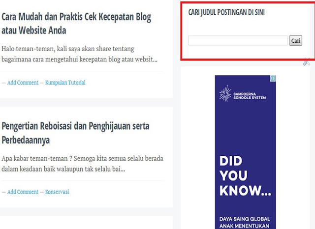 Menambahkan Widget di Blogspot