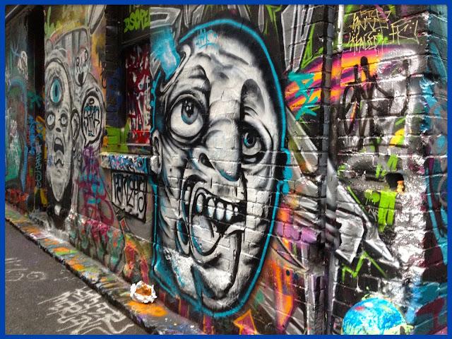 Photo du mois de janvier 2017, le street art, Melbourne, Australie