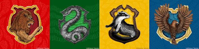 Gli stemmi delle Case di Hogwarts nel nuovo Pottermore