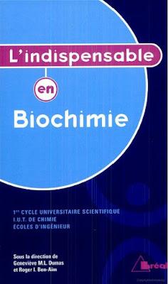 """[PDF] Livre Biologie """"L'indispensable en Biochimie"""" Télécharger Gratuitement"""