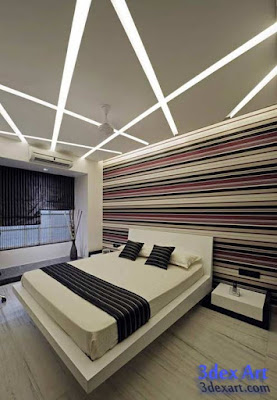 New False Ceiling Designs Ideas For Bedroom 2018 With Led Lights Modern Design Showroom  www Gradschoolfairs com