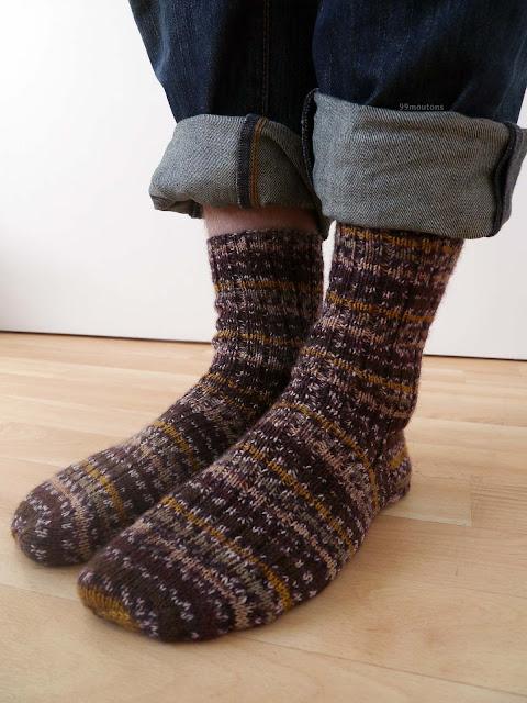 chaussettes tricotées pour homme