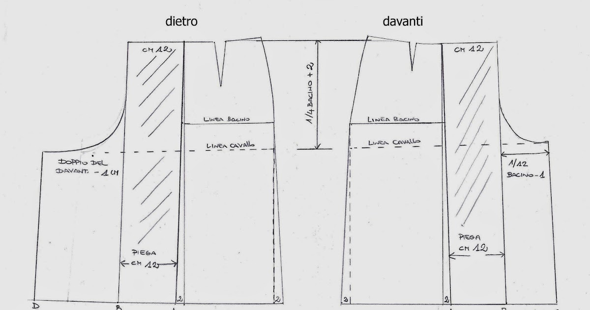 best service 8a2e0 4feaf I Quaderni di Studio Manie: CARTAMODELLO GONNA PANTALONE ESEMPIO