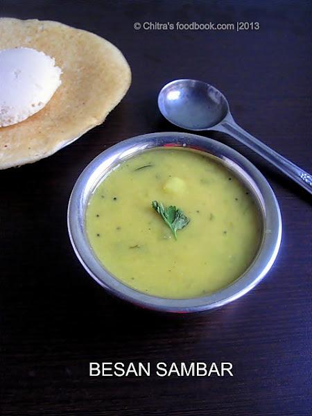 Besan sambar recipe/ Kadalai maavu sambar