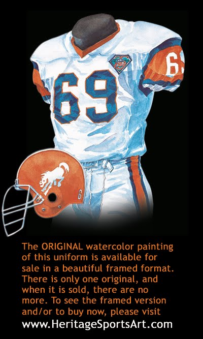 low priced 85be6 320ad Denver Broncos Uniform and Team History | Heritage Uniforms ...