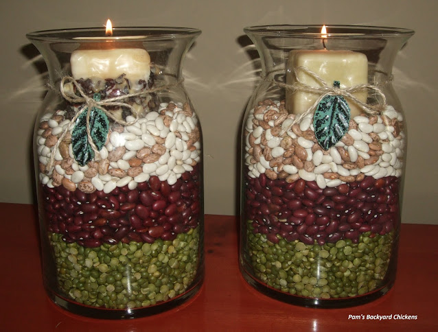 Easy DIY Thanksgiving decorations you can make at the last minute with pantry staples and an extra jar or two.