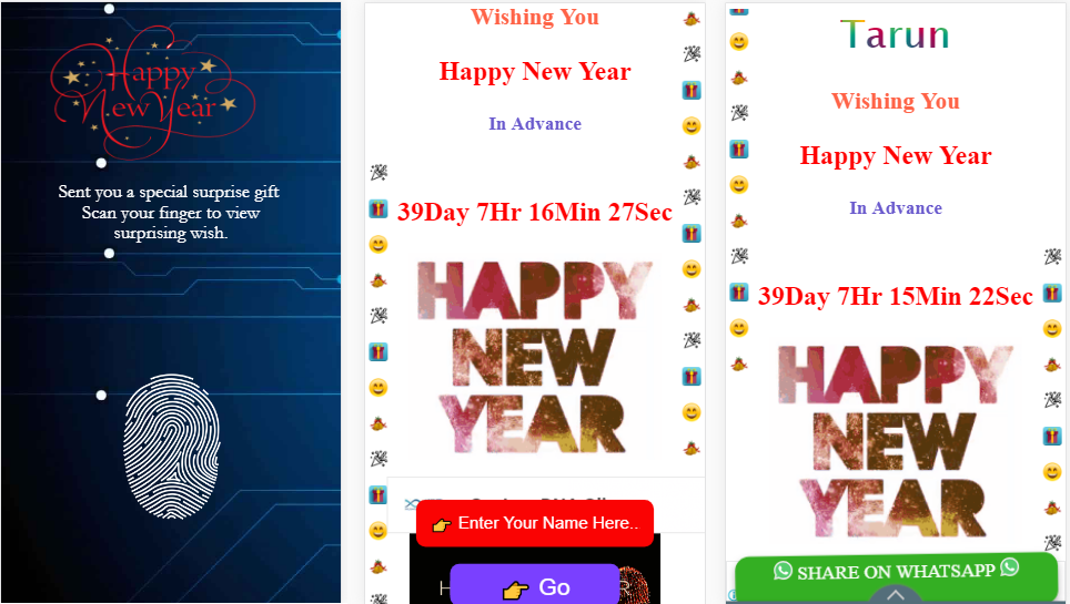 Happy new year photo images free download 2019 gift