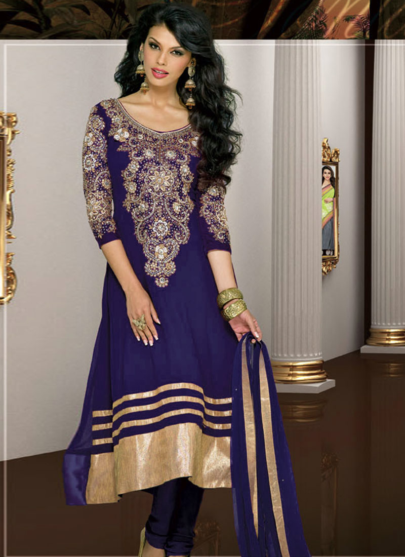 Karishma Kapoor in Designer Anarkali Suits by Natasha ...