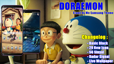 Download Doraemon Stand by Me Samsung Theme.apk Android Oreo & Nougat