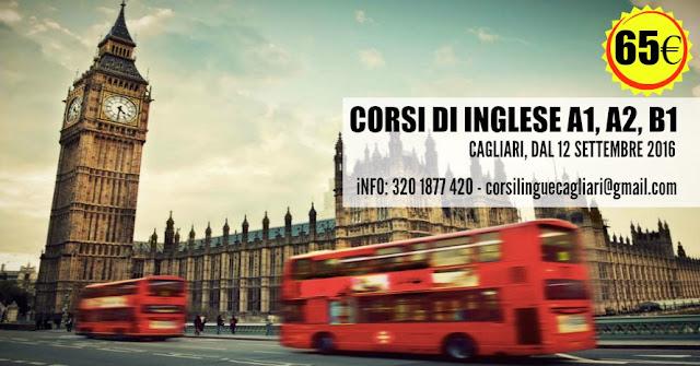 CORSI DI INGLESE A1, A2 E B1 - CAGLIARI, SETTEMBRE 2016