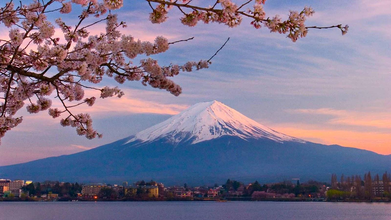 Gunung Fuji Kartun