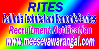 RITES (Rail India Technical and Economic Services) Recruitment Notification