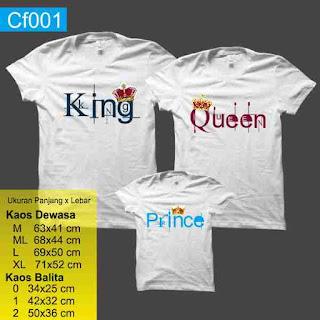 kaos keluarga King queen prince