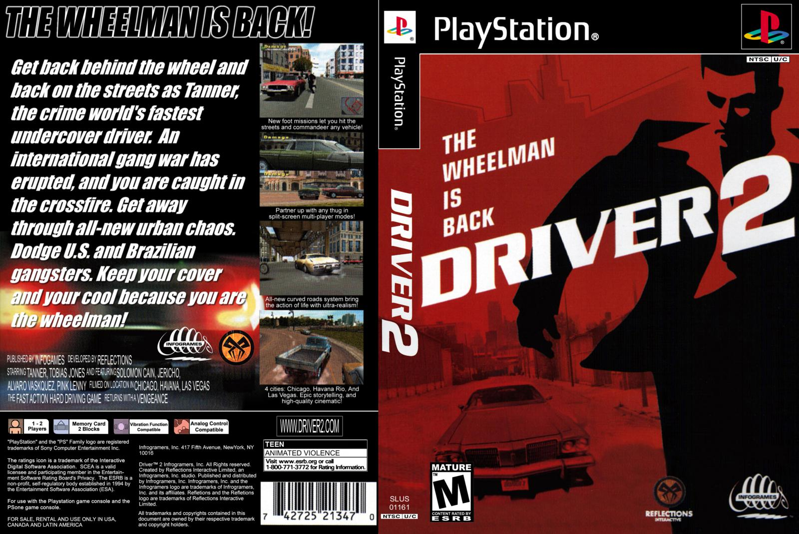 Fake Playstation 2 cover - Driver Madness