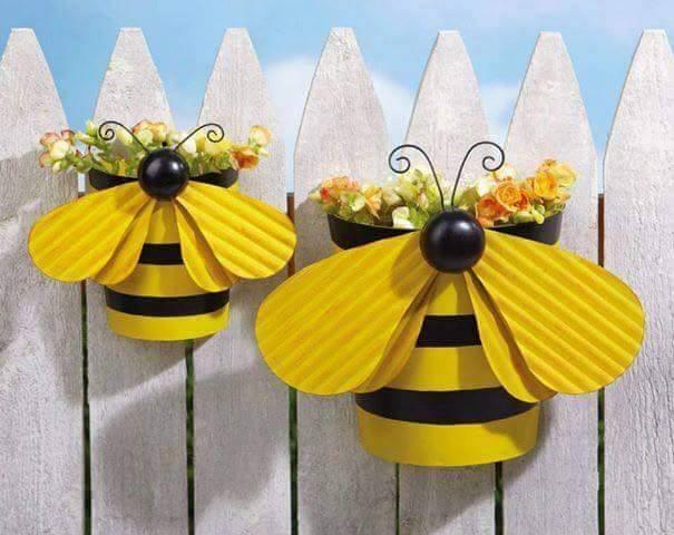 Diy Dekorasi Pasu Bunga Bentuk Lebah
