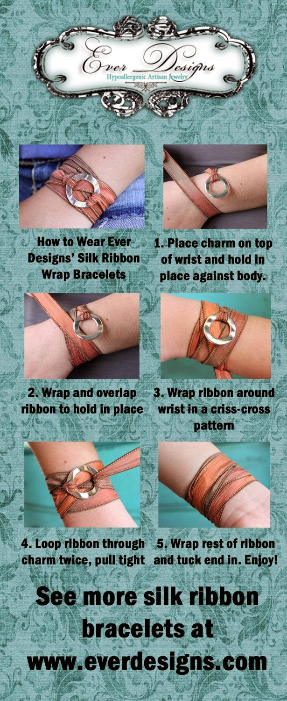 brazaletes, pulseras, boho, ribbon, wrap, bisutería