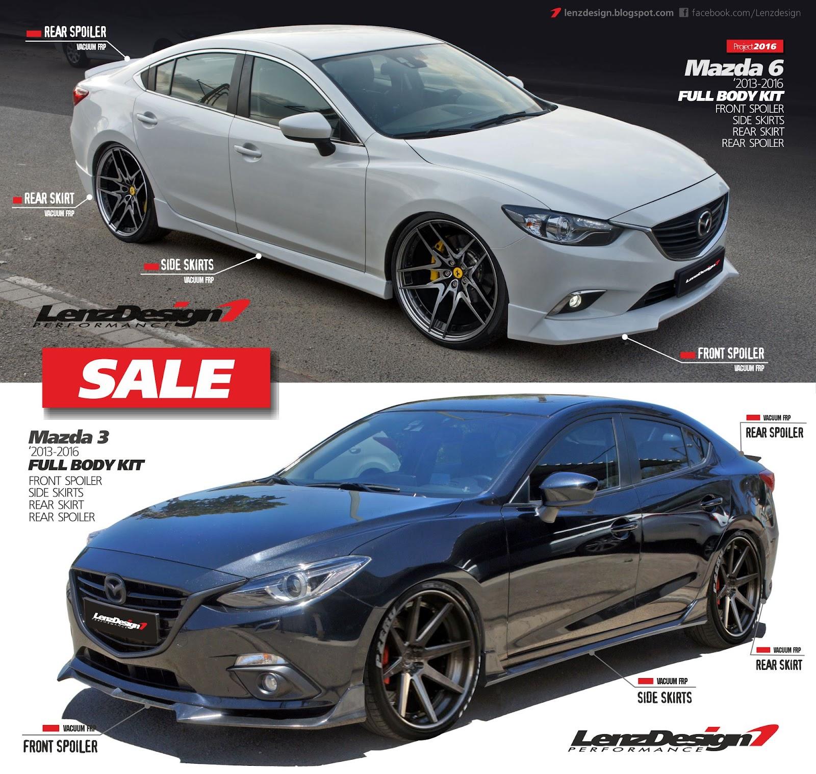 Mazda 6: Custom Body Kit & Carbon Fiber