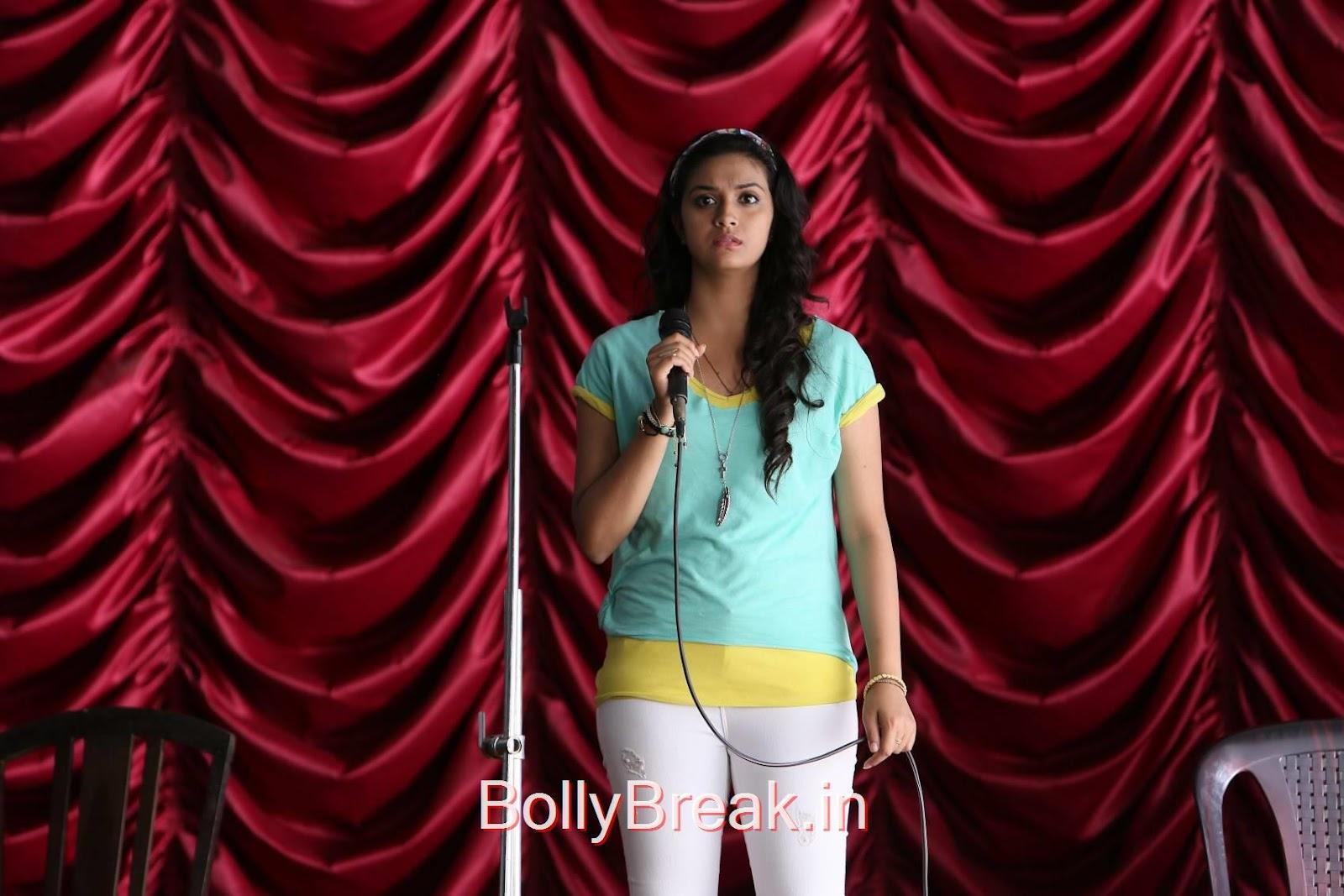 Tollywood Actress Keerthi Suresh, Keerthi Suresh Hot Stills From Idhu Enna Maayam Tamil Movie