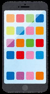 スマートフォンのイラスト1(アイコン)