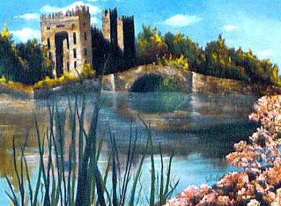 ~ Bunratty Castle ~  Oil on canvas 24 x 36, 1974  Collector not recorded ~ Timeless Expression by Maguire