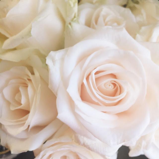 white roses from fresh market