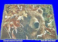 grizzly bear blanket throw tapestry