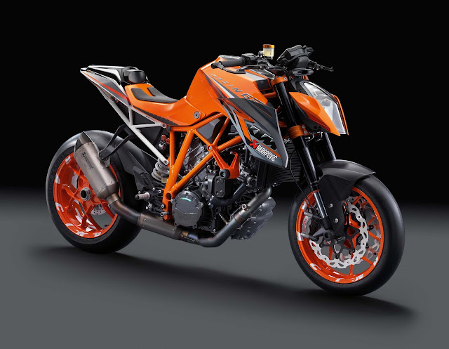 KTM Super Duke  White and Orange Color