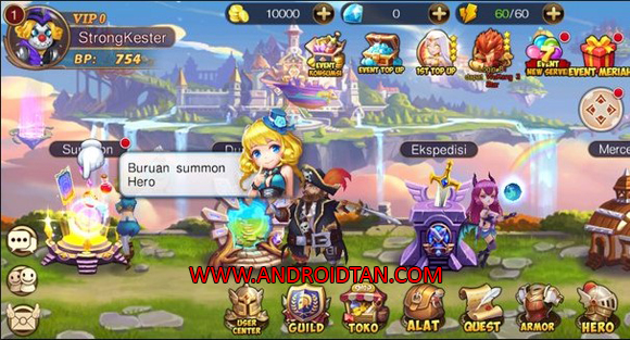 7 Paladin RPG 3D Fantasi Mod Apk v1.0.9 God Mode Terbaru 2017