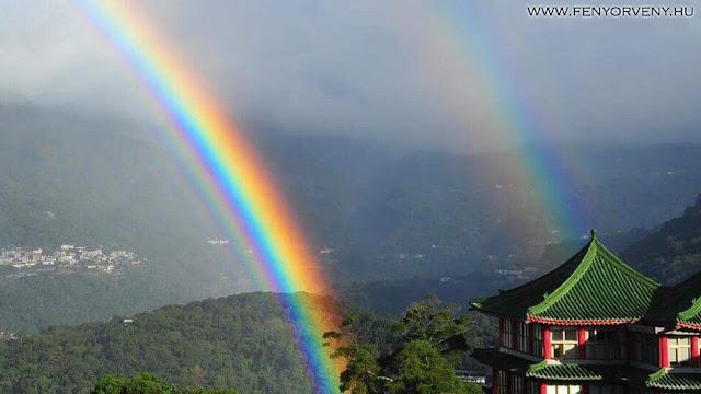 Rekord: 9 órán át tartó szivárvány volt Tajvanon!