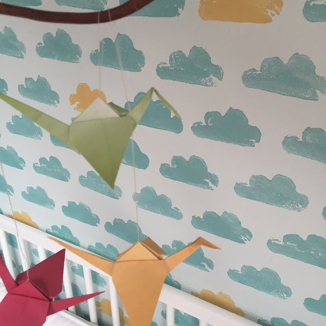 larissaswelt origami kranich mobile. Black Bedroom Furniture Sets. Home Design Ideas