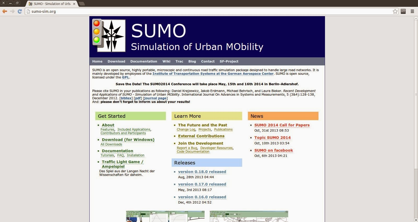 Open design and architecture: Download and Install SUMO