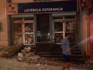Casa Lotérica em Jurema-PE após a explosão