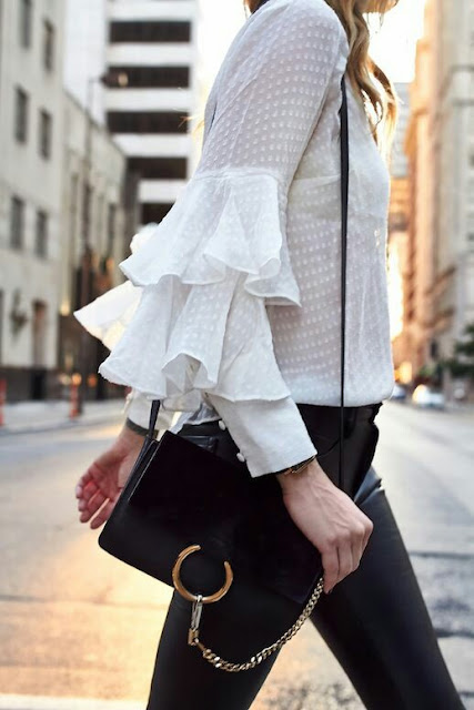 Sleeve style & handbag