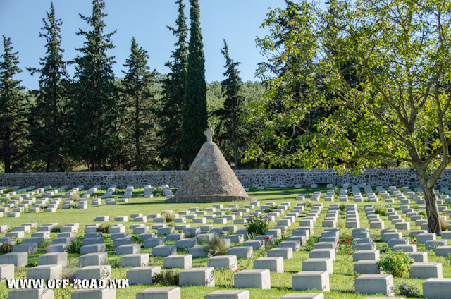 Dojran military WW1 cemetery near village Doirani, Greece