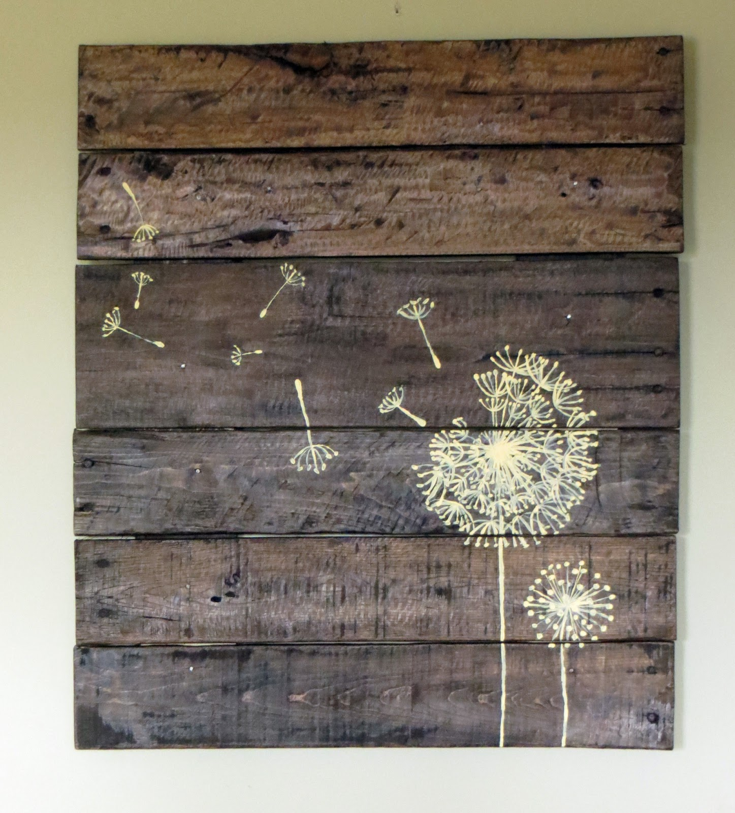 Uncategorized Wood Pallet Artwork namely original pallet wood sign ideas i saw a dandelion vinyl decal somewhere on google images and turned it into an idea for did the drawing first in sharpie then painted