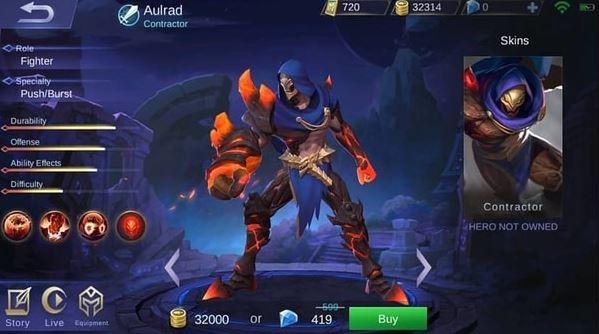 hero aulrad mobile legends