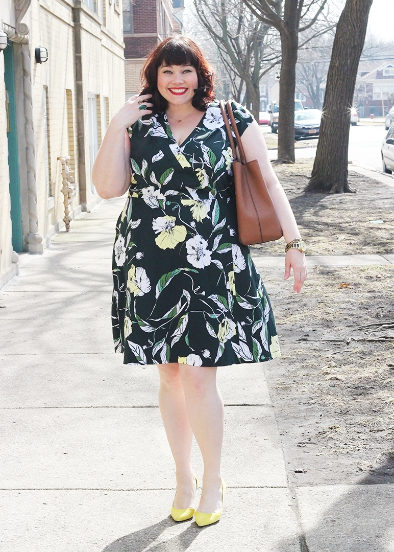 Plus Size Blogger Amber from Style Plus Curves in a Plus Size Dress from Nordstrom