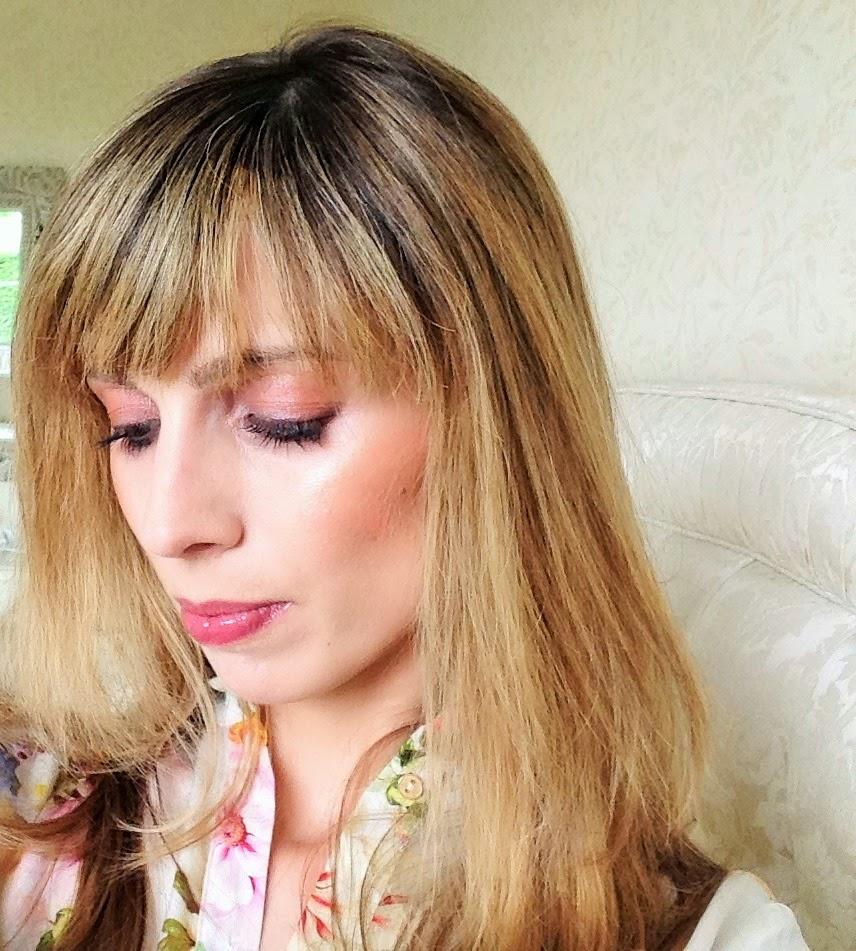 Plum smoky eyes featuring L'Oreal Eau de Rose Color Riche Quad