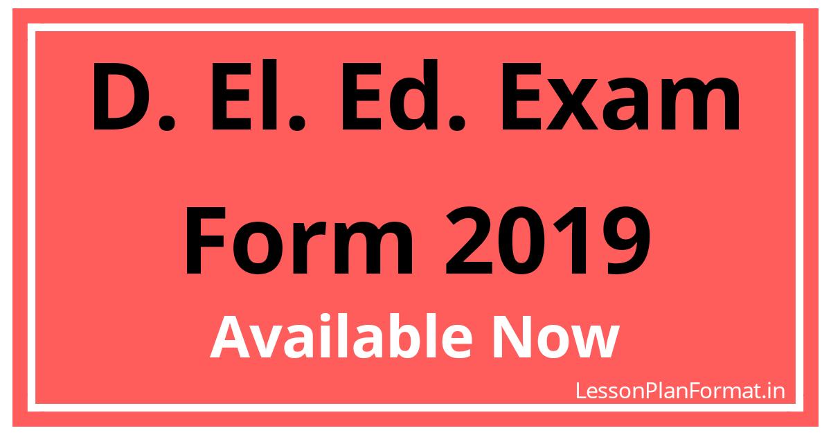 D. El. Ed. Exam Form 2019