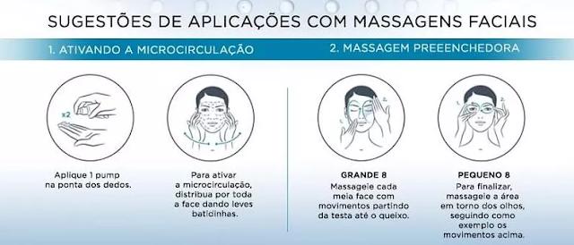 massagem facial com Vichy Mineral 89