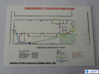 Photoluminescent Evacuation Plan