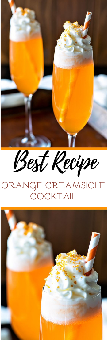 ORANGE CREAMSICLE COCKTAIL #healthydrink #easyrecipe