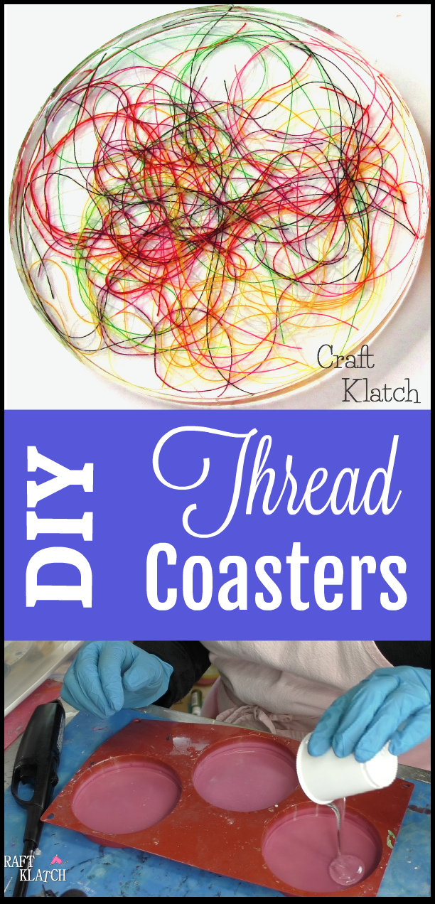Craft Klatch Thread Coaster Diy Resin Crafts Another Coaster
